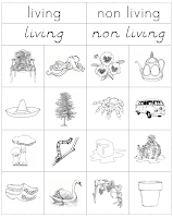 math worksheet : the helpful garden living nonliving cut and paste work : Living And Nonliving Worksheets Kindergarten