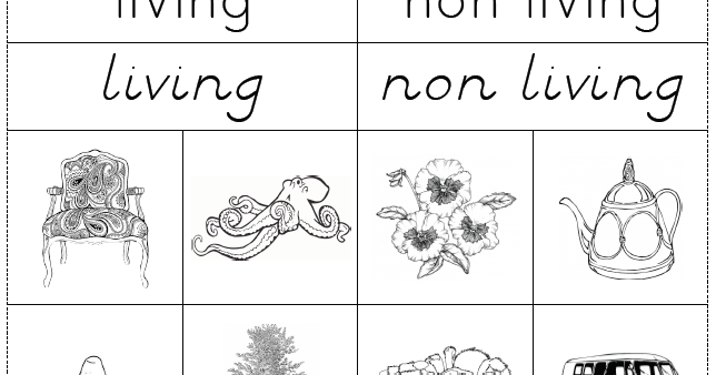 The Helpful Garden Living Nonliving Cut and Paste Work – Living Vs Nonliving Worksheet