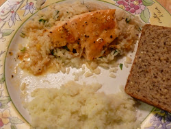 Apricot-Glazed Salmon with Herbed Rice
