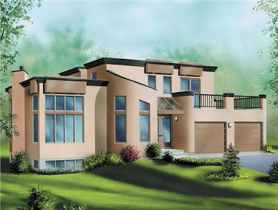 Contemporary-Modern House Plans