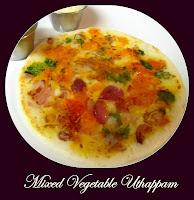 Mixed Vegetable Uttappam