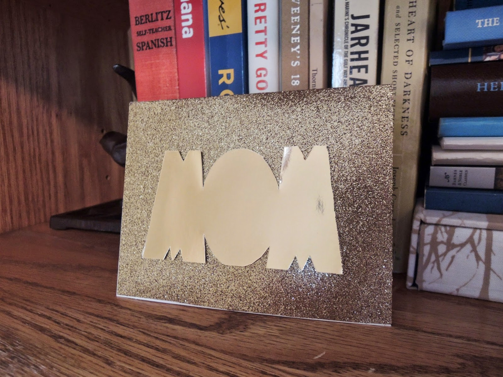 Golden Glitter Mother's Day Card