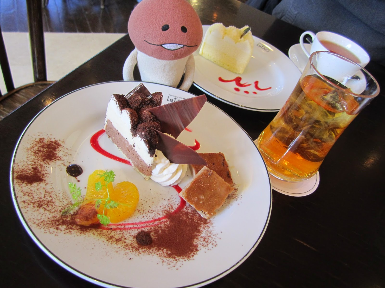 LeTao Honten head store cafe cake set double fromage