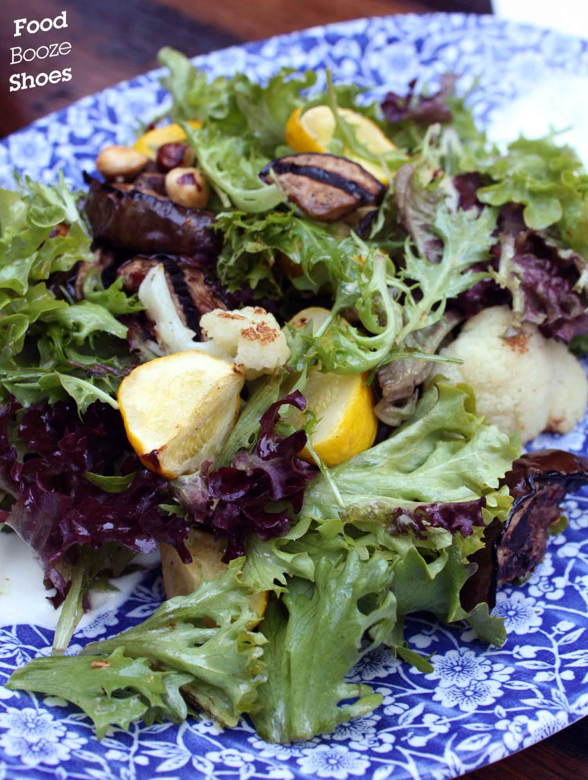 Spiced eggplant, cauliflower, hazelnut, herbs, yoghurt