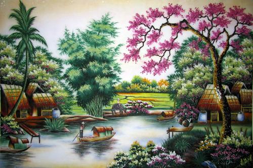 Bán Tranh Đá Quý,Đá Phong Thuỷ,Quả Cầu Đá Phong Thủy Cay+gao+ben+nuoc