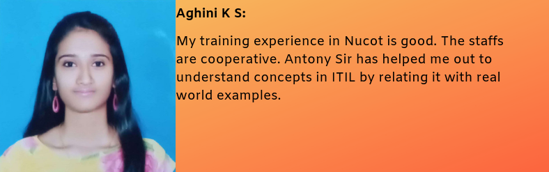 Aghini K.S - Testimonial / Review About Nucot
