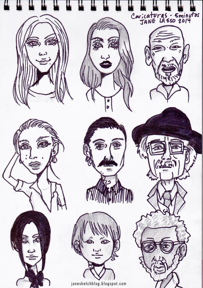 Caricaturas hechas con marcadores