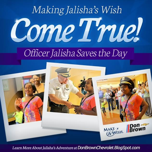 Making Officer Jalisha's Wish Come True
