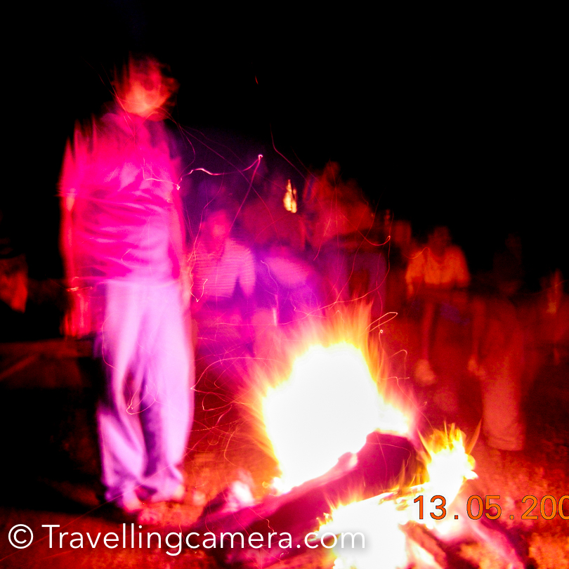 Just close to the dining place, there is an area which is used for bonfire in the evening. We had lot of fun during bonfire. This was my first trip with new team-mates at Adobe. So bonfire time was the best time for me to know more about folks in my team. This trip happened just after my joining at Adobe.