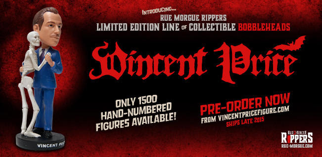 Vincent Price Bobblehead Rue Morgue Rippers