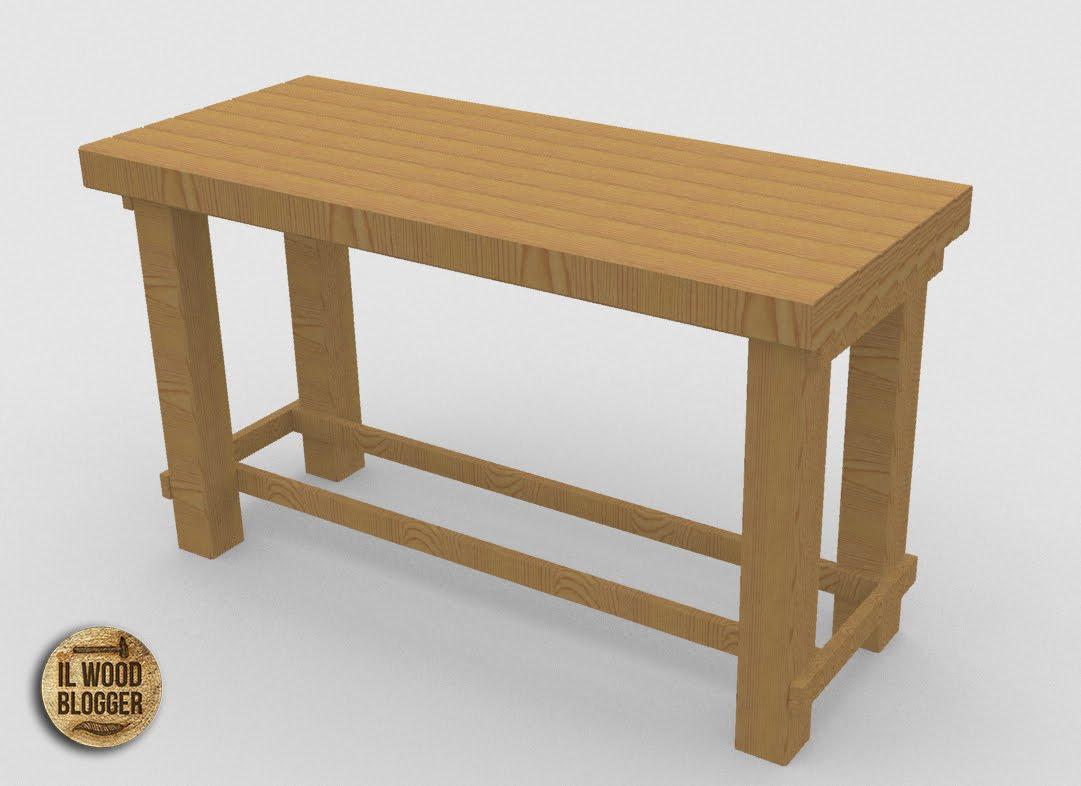 Progetto realizzare un tavolo da lavoro il wood blogger - Realizzare un tavolo in legno ...