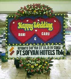 Bunga Papan Wedding di Gedung Bukit Gumati