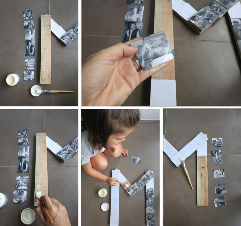 DEF Deco - Decorar en familia: Diy letra de madera con fotos3