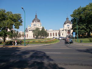 Historic Szechenyi Thermal Bath building in Budapest.