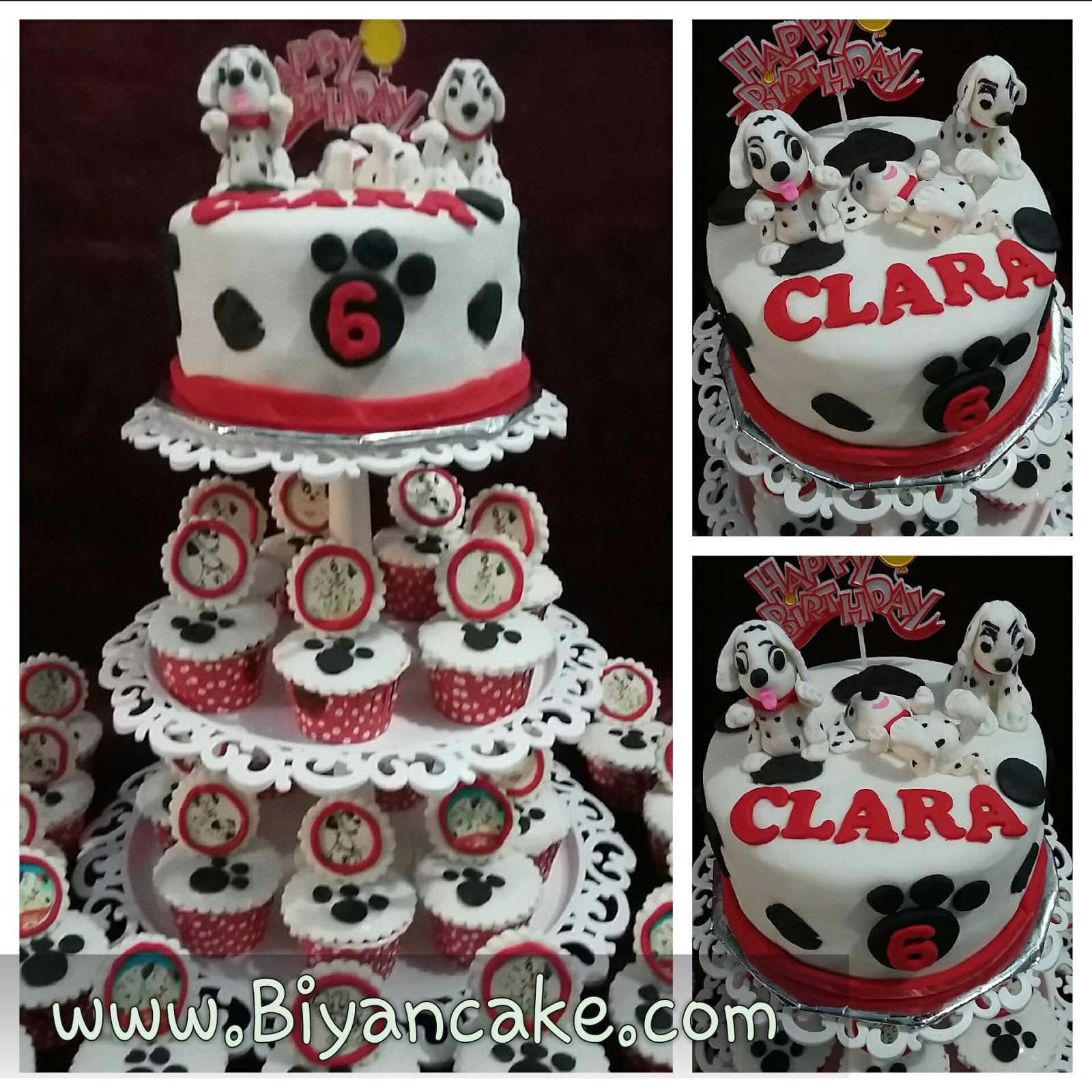 Cake cupcake Dalmation 101 ~ Clara
