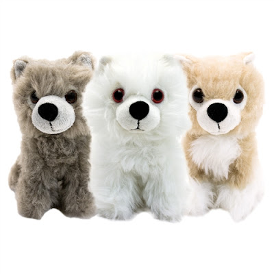 "San Diego Comic-Con 2015 Exclusive Game Of Thrones Direwolf Cub 6"" Plush Box Set"