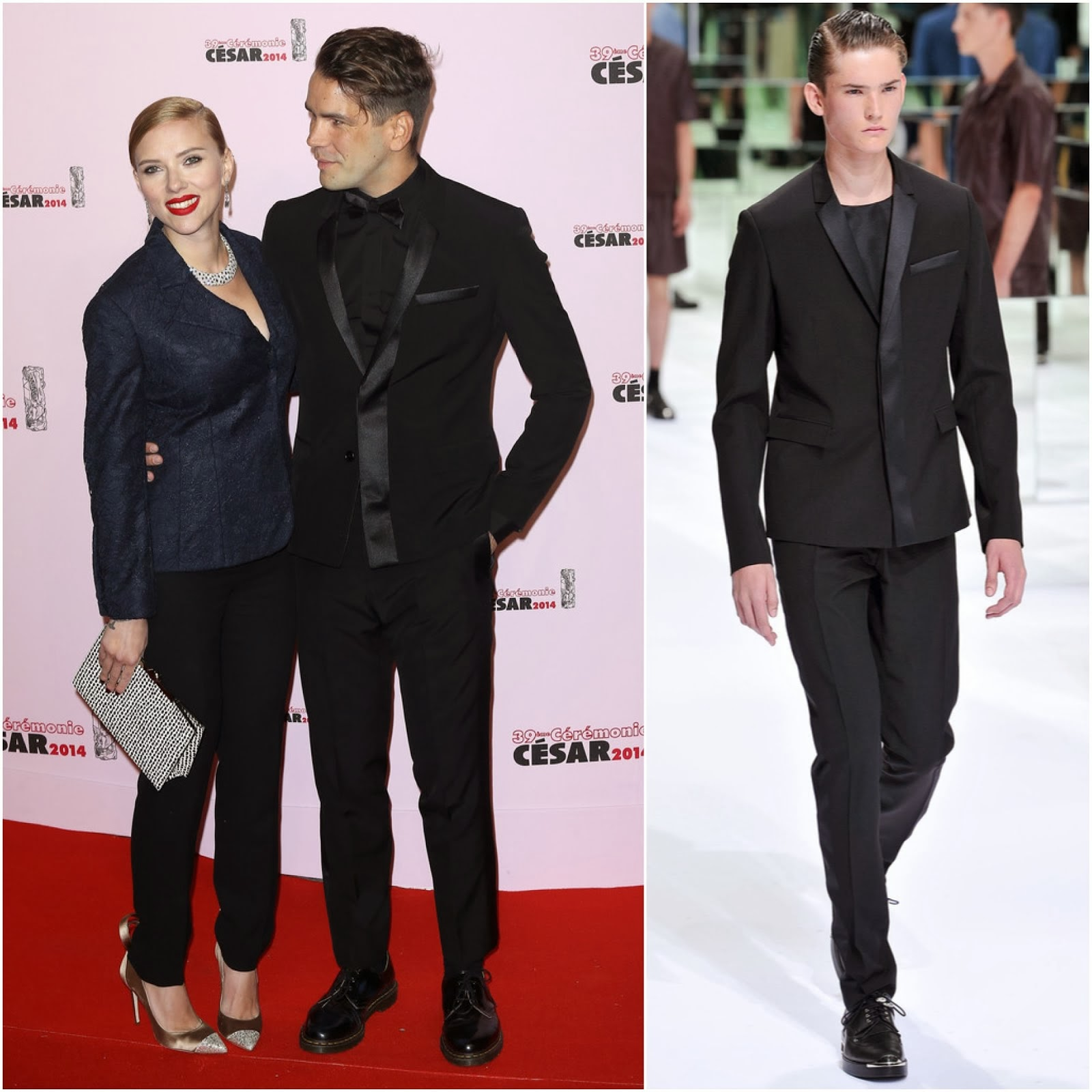 Romain Dauriac in Dior Homme - Cesar Film Awards 2014