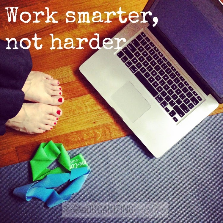 Work Smarter, Not Harder -- help from a work from home mom/blogger :: OrganizingMadeFun.com