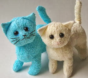 صنع دمية على شكل قطة