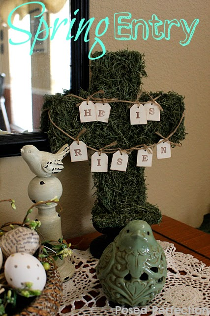 Spring Entry with Moss Cross ~ more spring inspiration!
