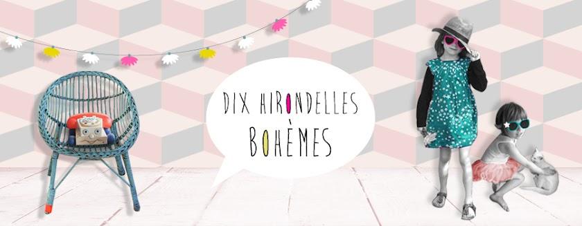 Dix Hirondelles Bohèmes