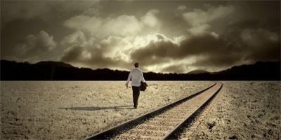 How to Start the Process of Introspection - man walking alone in the dusk - clouds - cloudy weather