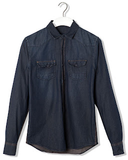 camisas denim pullandbear