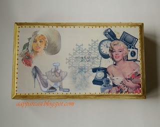 Marilyn Monroe Temalı Ahşap kutu