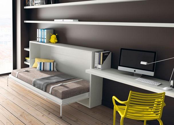 Dormitorios con camas abatibles literas abatibles - Cama abatible horizontal 135 ...