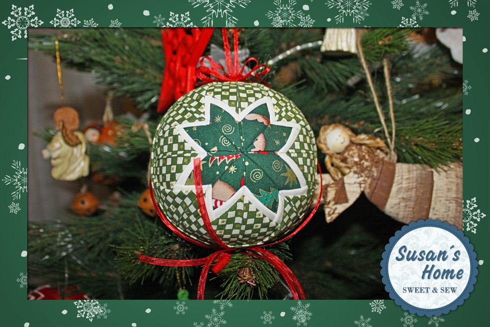 Susan 39 s home bolas de navidad patchwork - Bolas de navidad para decorar ...