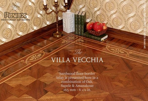 Hardwood Floor Border Inlay - Marqueteria Pattern