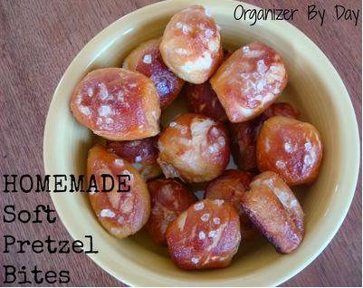 Soft Pretzel Bites with Homemade Cheese Sauce
