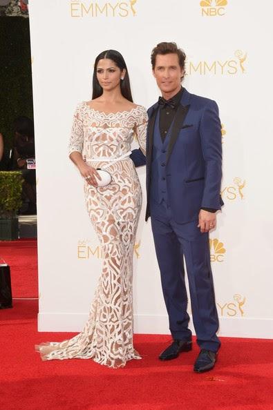 Matthew McConaughey and Camila Alves Emmys 2014