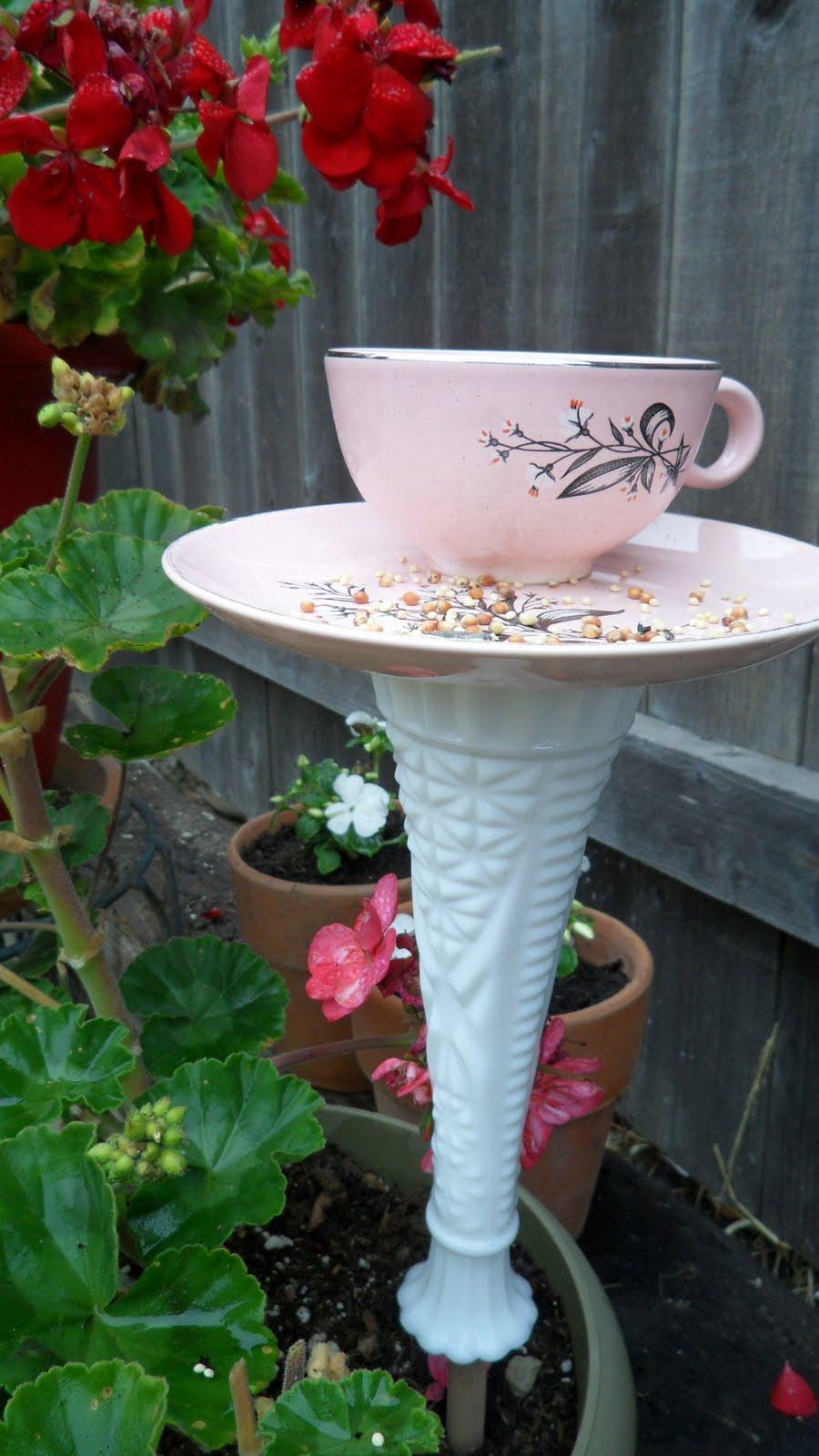 kaleidoscope of colors diy 10 minute teacup bird feeder