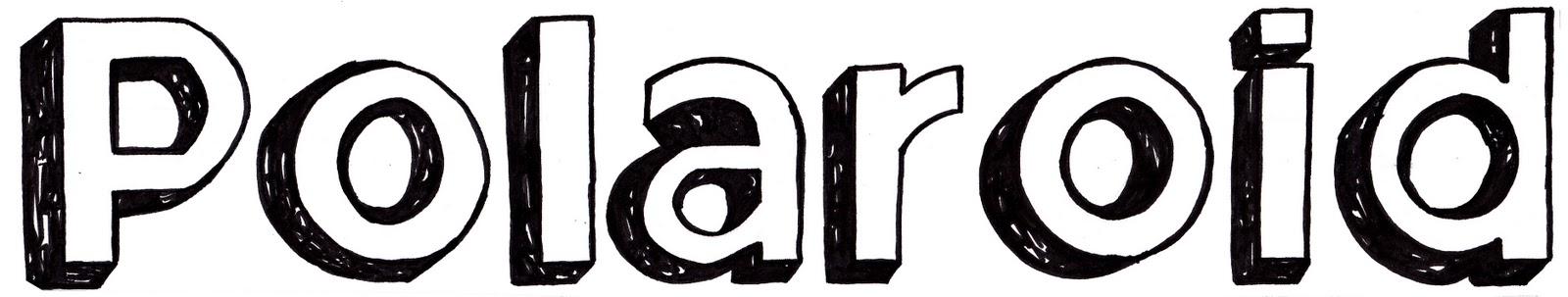 ... logo design with the same font used on the original polaroid logo