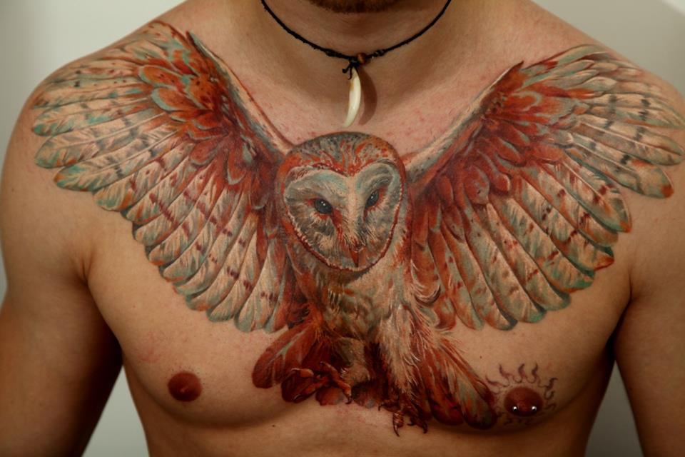 tattoo+de+coruja+-+tatuagem+de+coruja+-+owl+tattoo+-+tattoo+no+peito+ ...