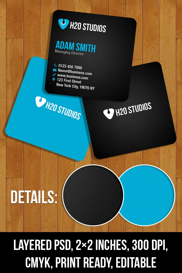 Mini Business Cards Template PSD