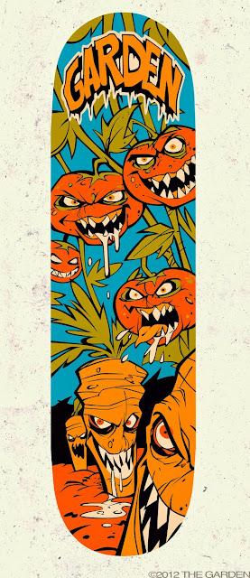 Pumpkin Carrot Terror Skate Design