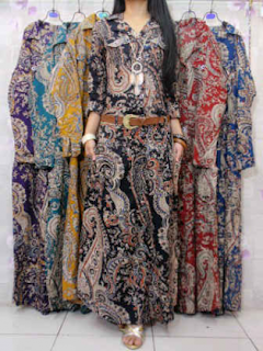 Model baju batik kombinasi renda anggun dan elegan