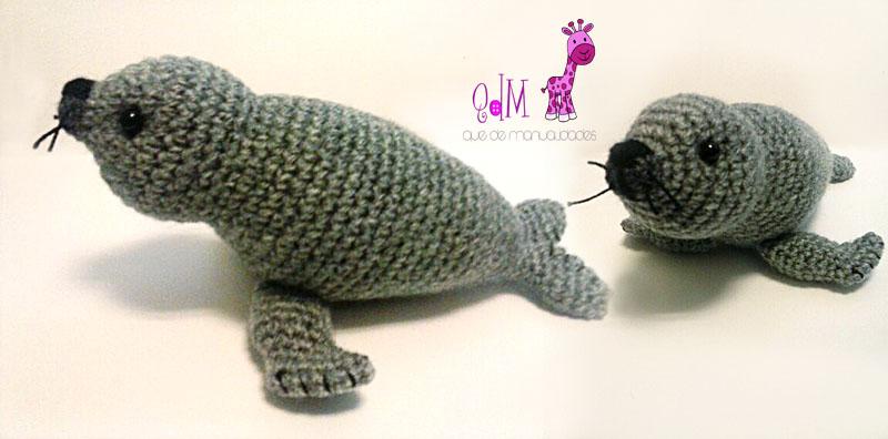 foca amigurumi
