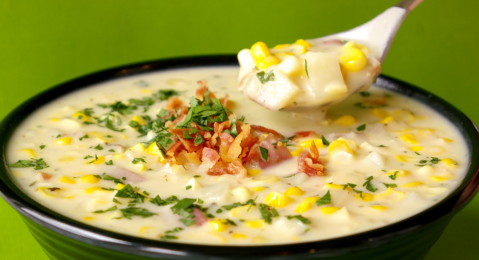 BACON, CORN & POTATO CHOWDER | Free Recipe Hub