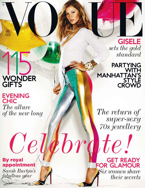 Vogue UK December 2011 Gisele Bundchen cover photographed by Mario Testino My letter to you twenty years from now. Cheyenne, Pawtucket.