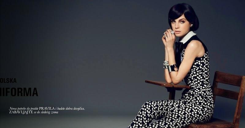 "New School Uniform"": Olga Boiko by Filippo Del Vita for Elle Poland ..."