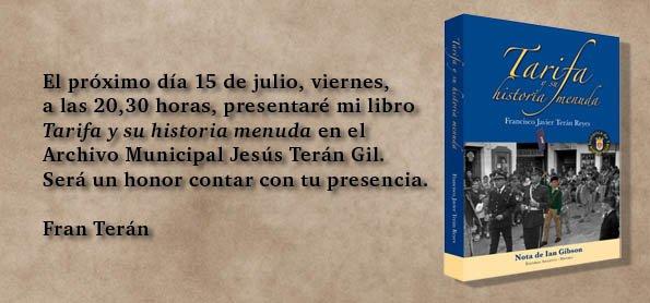Invitacion Libro  Tarifa Y Su Historia Menuda
