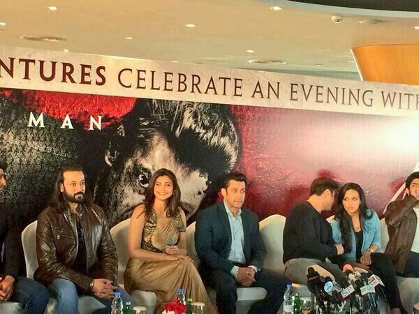 Salman, Daisy Shah, Sana Khan & Sohail Khan promote Jai Ho in Dubai