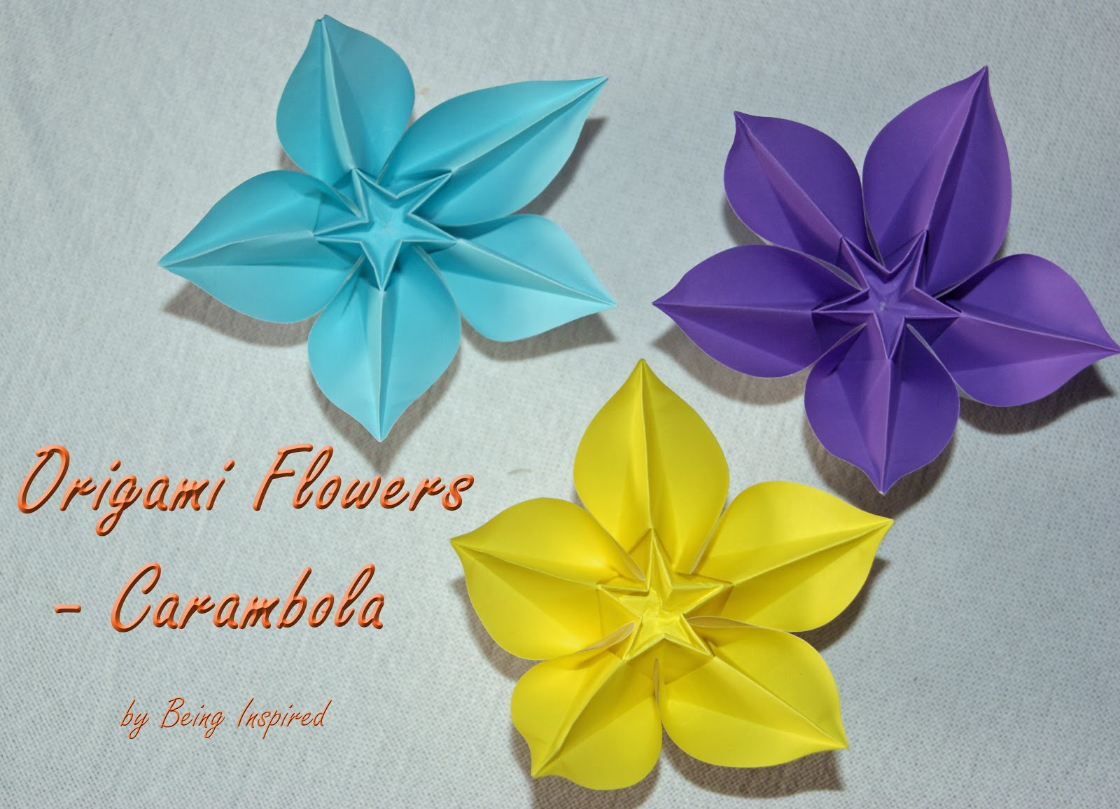 Being Inspired Origami Carambola Flowers