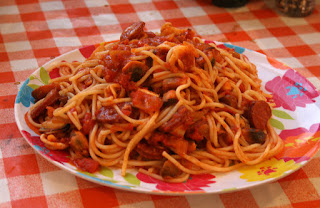 Superb sea food and chorizo pasta