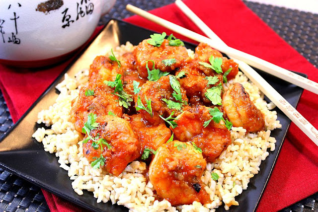 Sweet Chili Shrimp with Ginger and Cilantro