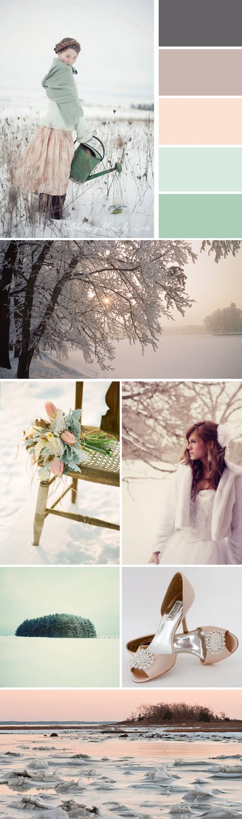 Winter wedding color story