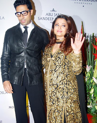 Aishwarya Rai and Abhisek